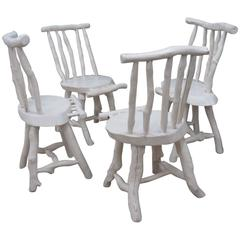 Four Rustic Adirondack Style Chairs