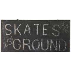 Wood Sign Skates Ground