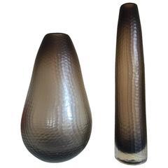 Pair of Murano Battuto Vases