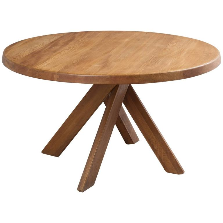 Pierre Chapo T21 Dining Table In Solid Elm For Sale At 1stdibs