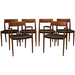 Danish Niels Moller 57 & 77 Dining Chairs