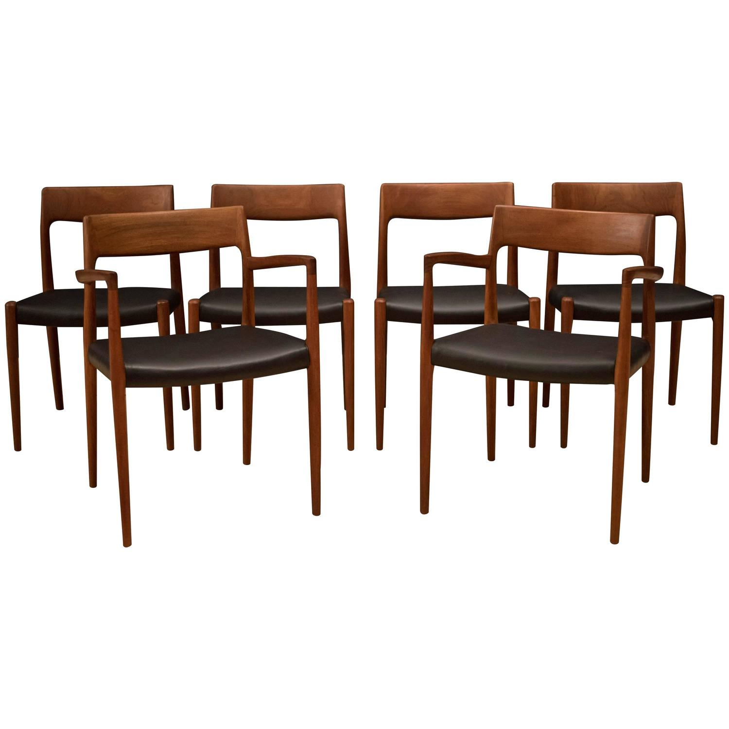 Danish Niels Moller 57 And 77 Dining Chairs At 1stdibs