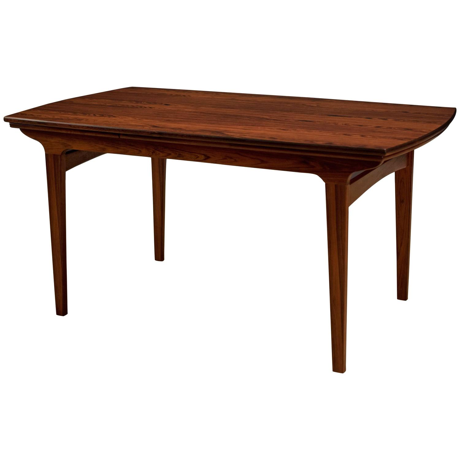 Danish brazilian rosewood expandable dining table at 1stdibs for Expandable dining table