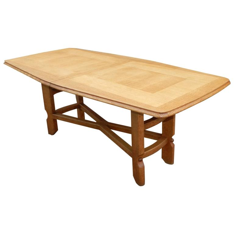 Guillerme et Chambron, Oak Dining Room Table, Edition Votre Maison