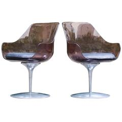 Two Laverne Champagne Chairs for Formes Nouvelles, 1962