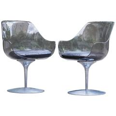 Two Laverne Champagne Chairs