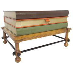 Rare Table in the Form of Stacked Books by John Dickinson, circa 1960s