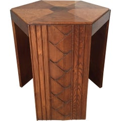 Rare Model French Art Deco Walnut Centre Table or Gueridon