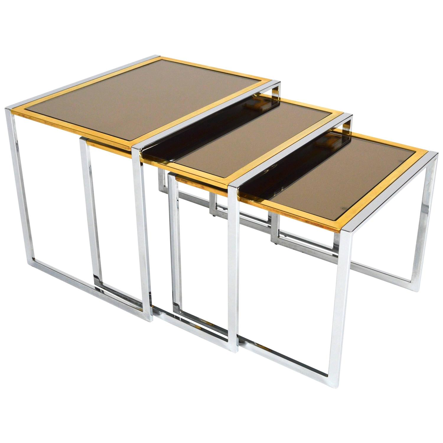Set Of Willy Rizzo Nesting Tables Italy 1970s For Sale At 1stdibs. Full resolution  photo, nominally Width 1500 Height 1500 pixels, photo with #BC810F.