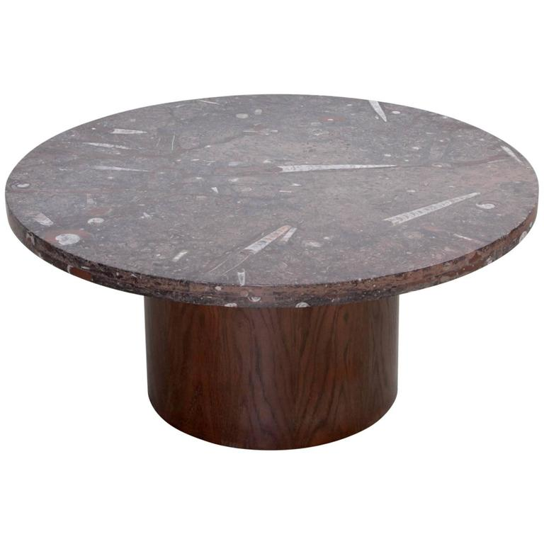 Heinz Lilienthal Coffee Table With Fossil Stone Top For