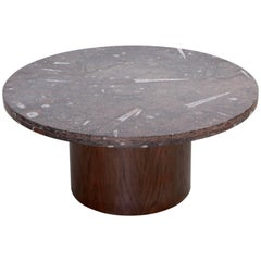 Heinz Lilienthal Coffee Table with Fossil Stone Top
