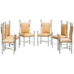 Set of Six Maison Jansen Style Dining Chairs