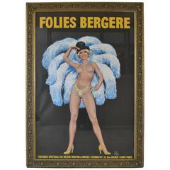 Folies Bergere Cabaret Poster by Aslan