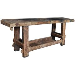 20th Century French Carpenters Workbench