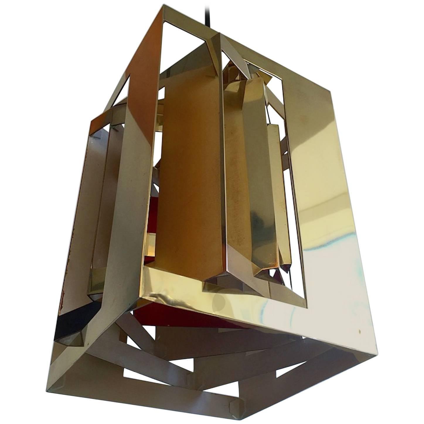 """Brass Pendant """"Kassablanka"""" by Simon Henningsen for Danish Lyfa"""