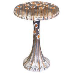 """Rare Ceramic """"Tulip"""" Side Table by Bitossi"""
