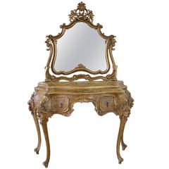 20th Century Italian Polychrome Vanity in the Rococo Style