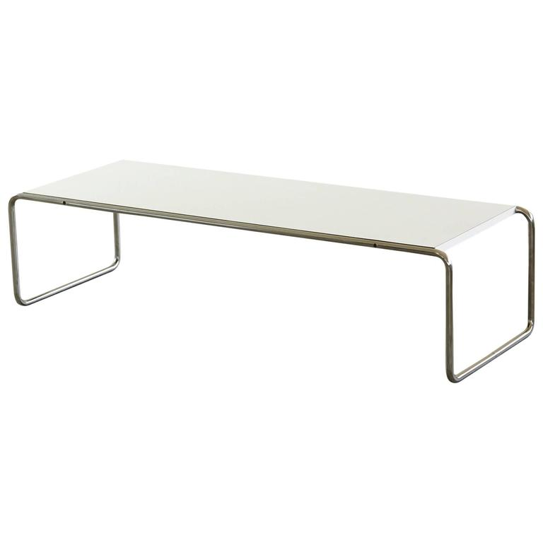 White laminate laccio coffee table designed by marcel Laccio coffee table