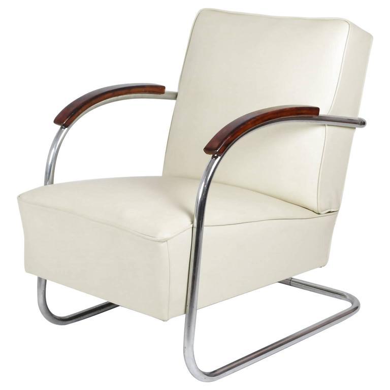 1930s bauhaus mauser steel tube club chair at 1stdibs. Black Bedroom Furniture Sets. Home Design Ideas
