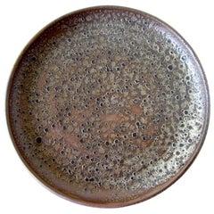 Anthony H. Ivins California Studio Lava Stoneware Platter