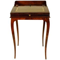 Small 19th Century Mahogany Bonheur de Jour or Ladie's Desk
