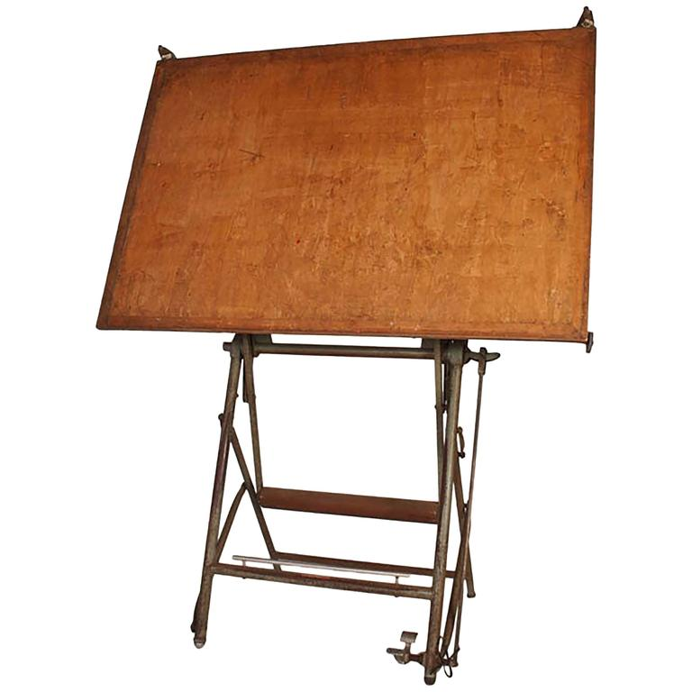 Vintage Architect Drafting Table Circa 1940 For Sale At