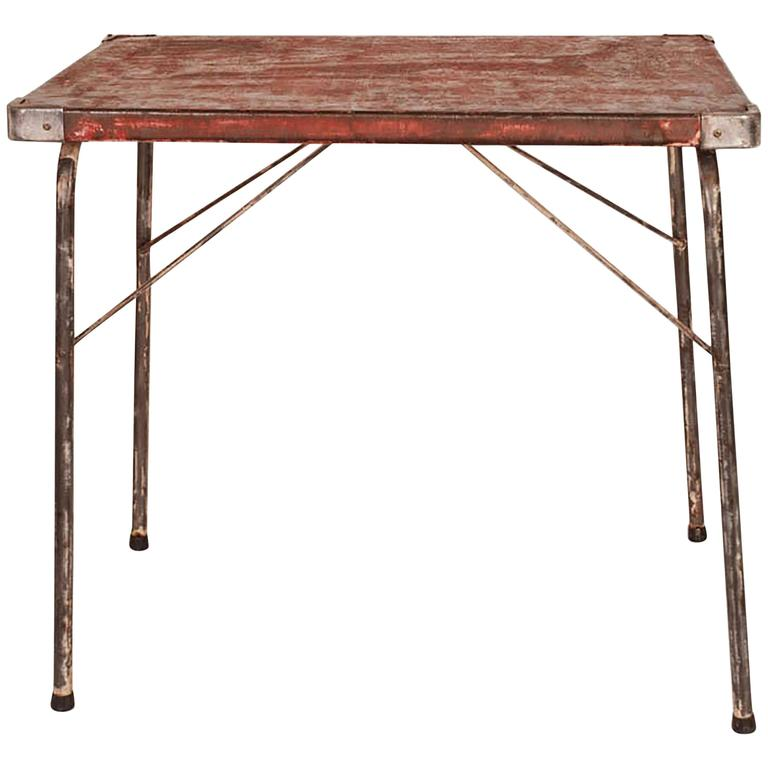 Vintage Leather Top Table, circa 1940s-1950s at 1stdibs