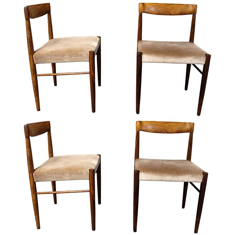 H W Klein For Bramin Rosewood Dining Room Chairs Set Of Four At 1stdibs