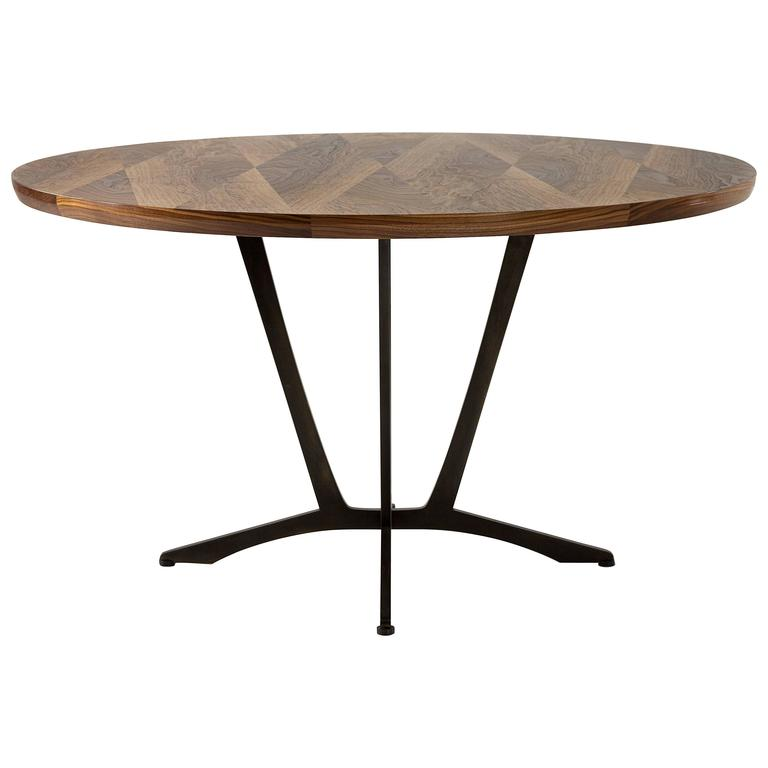Robson Dining Table, American Hardwood and Steel 1