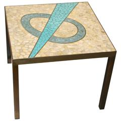 Nice Tile Top Table with a Bronze Patinated Frame
