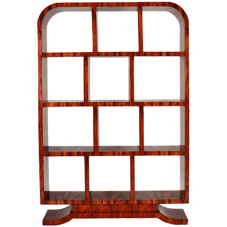 Art deco arched top burl wood tag re for sale at 1stdibs - Deco etagere woonkamer ...