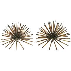 Pair of Urchin Sculptures by Curtis Jere, 1970s