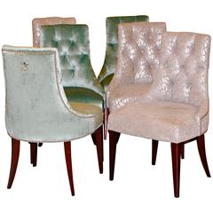 Set of Six Ritz Chairs Designed by Thomas Pheasant for Baker Furniture