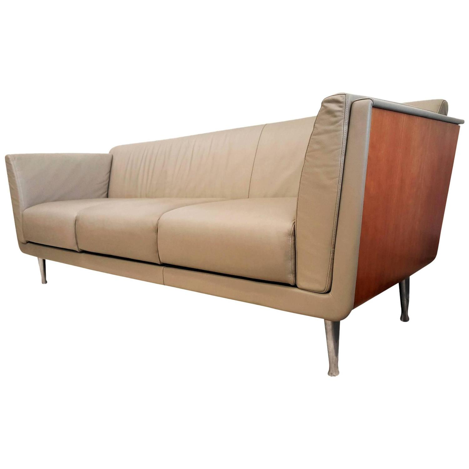 Mark goetz for herman miller cherry wrapped tan leather for Furniture markup