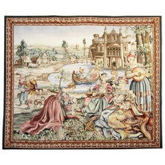 Antique Rug, Tapestry Felemish Wall Decoration Object, Decorative Rugs