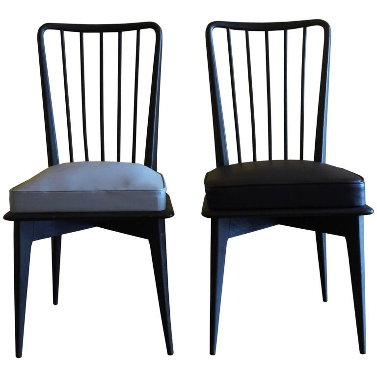 1950s Italian Wood Chairs in the Style of Paolo Buffa