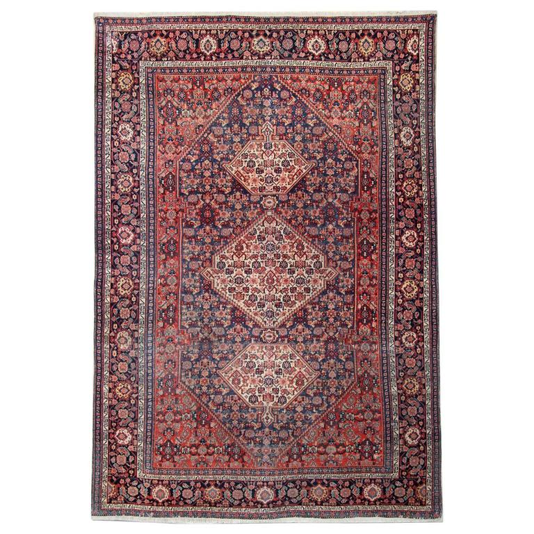 Persian Rugs, Antique Senneh Carpet from Iran