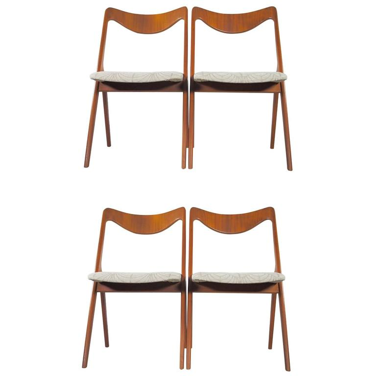 Set of Four Mid-20th Century Albin Johansson & Sons Teak Chairs
