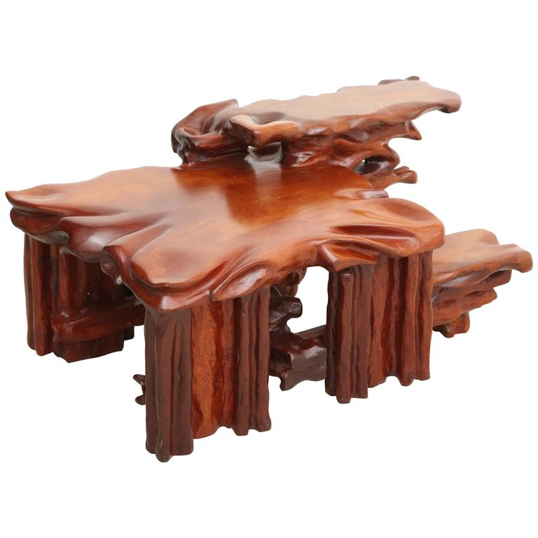 Organic Carved Coffee Table At 1stdibs