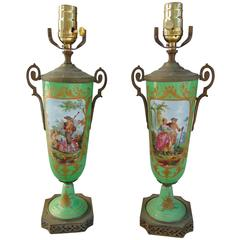 Pair of Small French Lamps