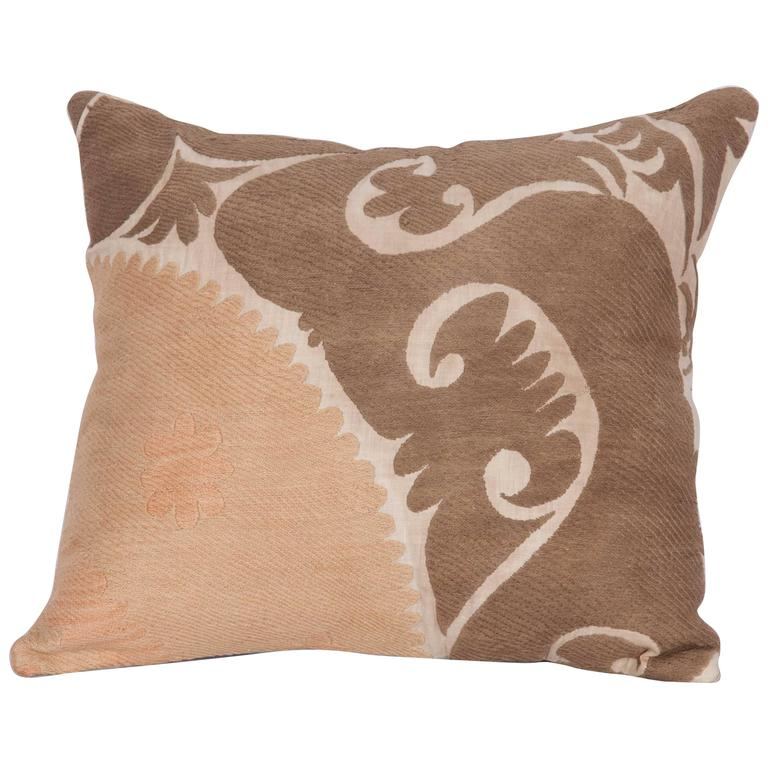 Midcentury Pillow : Pillow Made Out of a Mid-20th Century Uzbek Samarkand Suzani at 1stdibs
