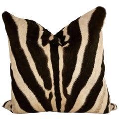Double-Sided Zebra Hide Pillow