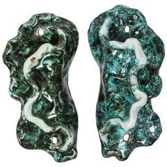 Pair of Italian Ceramic Door or Furniture Handles