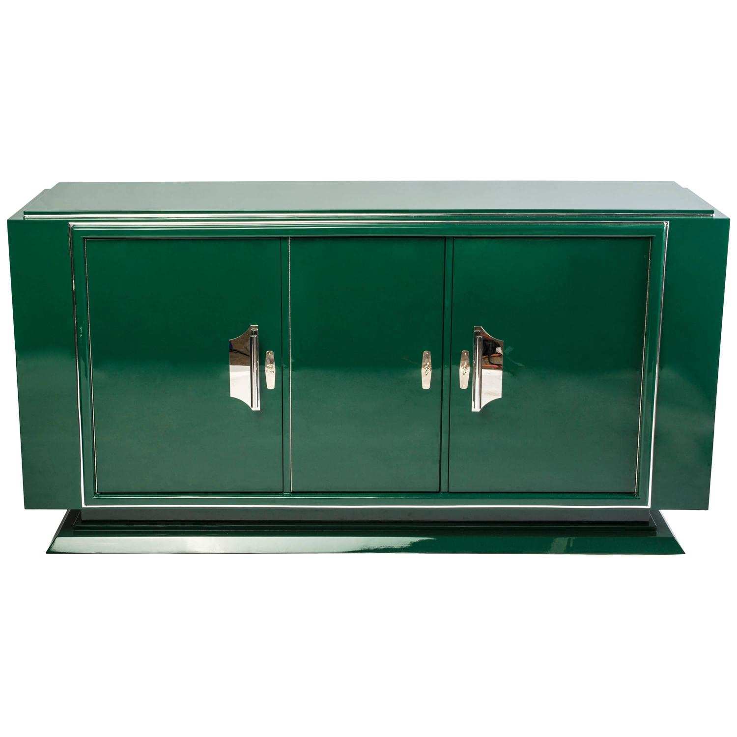 Impressive Art Deco Sideboard in Mint Green For Sale at 1stdibs