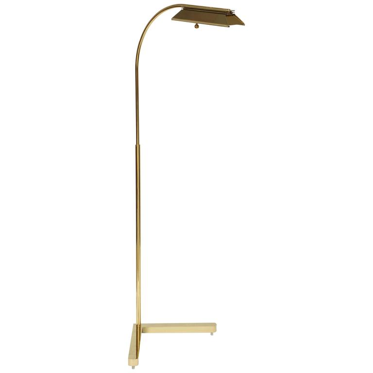Casella Lighting Adjustable Floor Lamp in Polished Brass