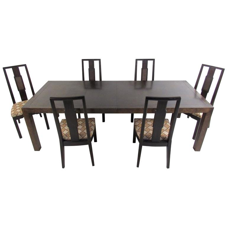 mid century modern dining room set by john stuart for sale at 1stdibs