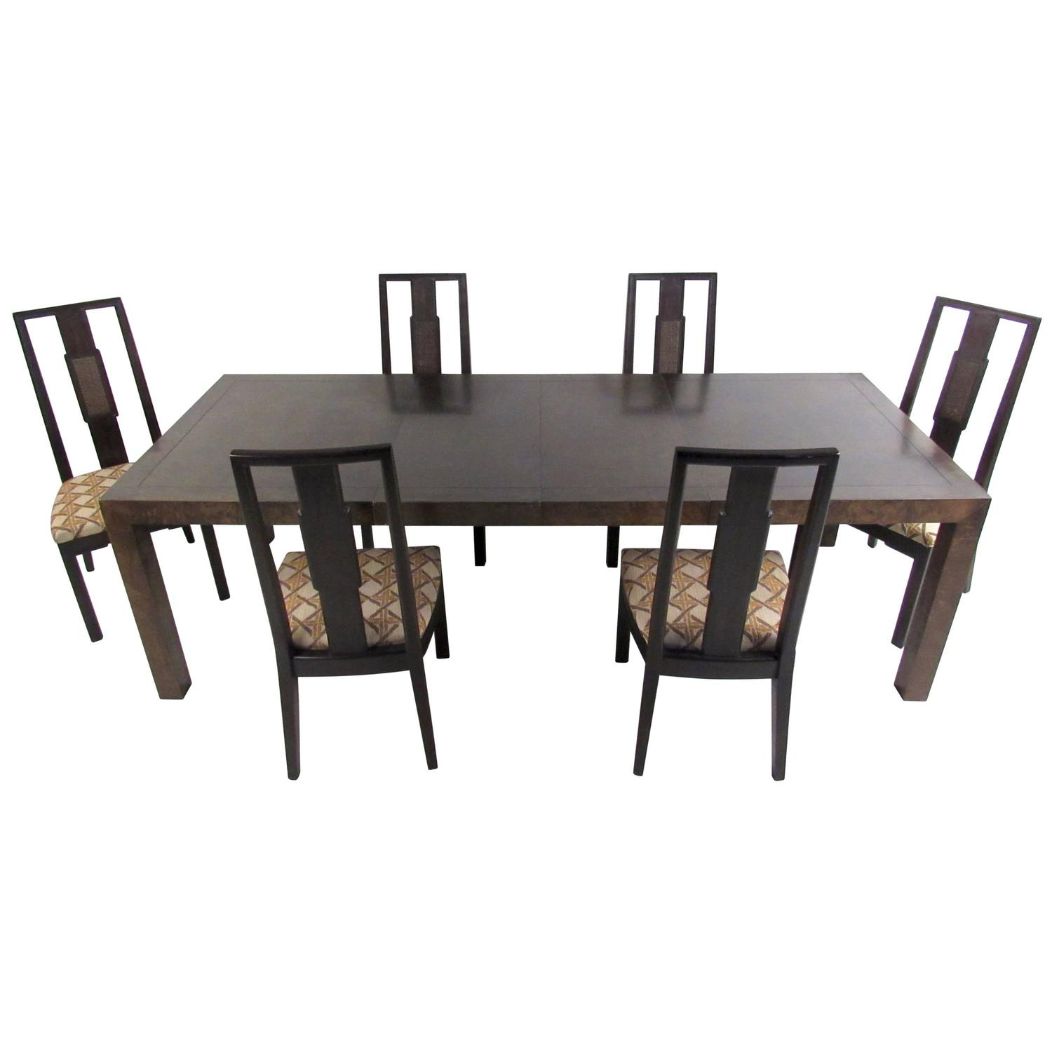Mid century modern dining room set by john stuart for sale for Mid century modern dining rooms
