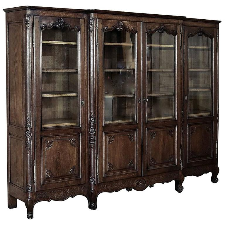 19th century country french bookcase or bibliotheque at. Black Bedroom Furniture Sets. Home Design Ideas