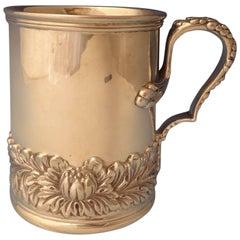 Chrysanthemum by Tiffany & Co. Sterling Silver Baby Mug/Cup, Rare Hollowware