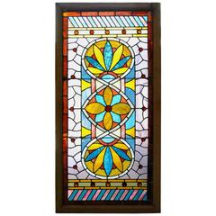 Antique Victorian Stained Glass Window, circa 1880s